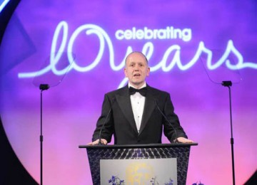 Current Academy Chairman David Parfitt took to the stage to thank everyone involved in staging the tenth annual British Academy Television Craft Awards (BAFTA / Richard Kendal).