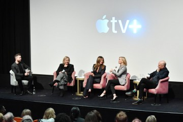 Charles Thorp, Mimi Leder, Jennifer Aniston, Reese Witherspoon and Michael Ellenberg