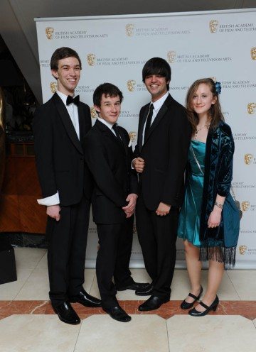 BBC Blast and BAFTA Screen-Skills Award noninees Sam Shetabi, Harriet Beaney, Joe Reed and Jack Crocker arrive at the Television Craft Awards.