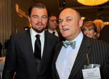 Leonardo DiCaprio and BAFTA Los Angeles Chair Nigel Daly