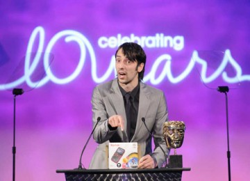 Actor Ralf Little joked with the audience before announcing the Interactive Innovation award (BAFTA / Richard Kendal).