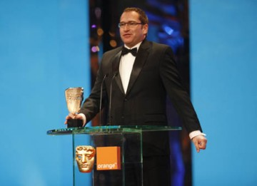The Production Design Award is collected by Anthony Victor Zolfo for The Curious Case of Benjamin Button (BAFTA / Marc Hoberman).
