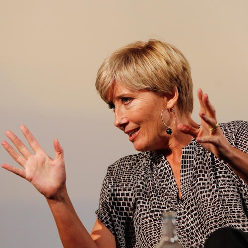 The BAFTA and BFI Screenwriters Lecture Series 2014 in association with The JJ Charitable Trust. British writer and actress Emma Thompson gives the second lecture in the series at the BFI Southbank on 20 September 2014. Chaired by Jeremy Brock. Other wri