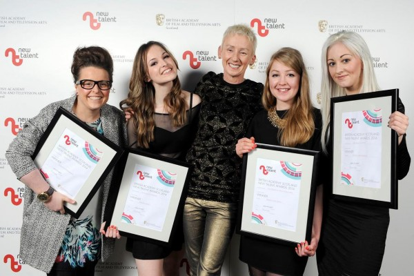 Ruth Gallacher, Jessica Jones, Host Muriel Gray, Ailsa Williams and Julie Speers.