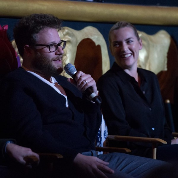 Seth Rogan and Kate Winslet