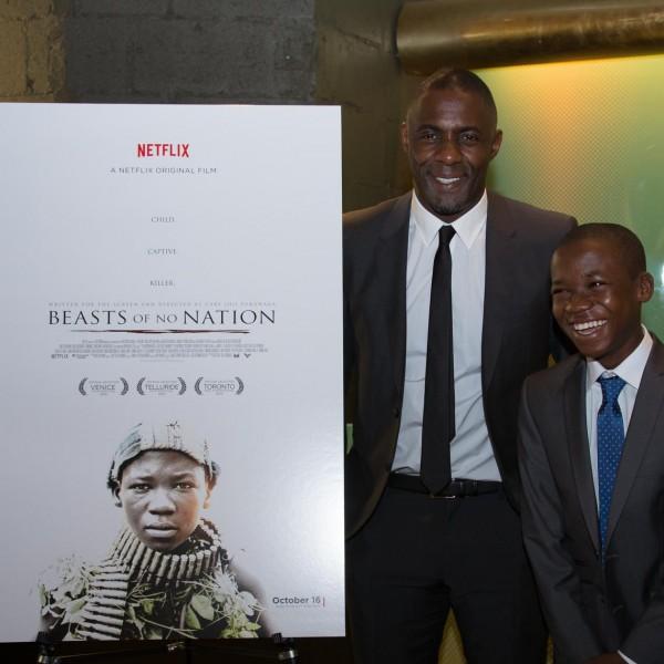 Idris Elba and Abraham Attah