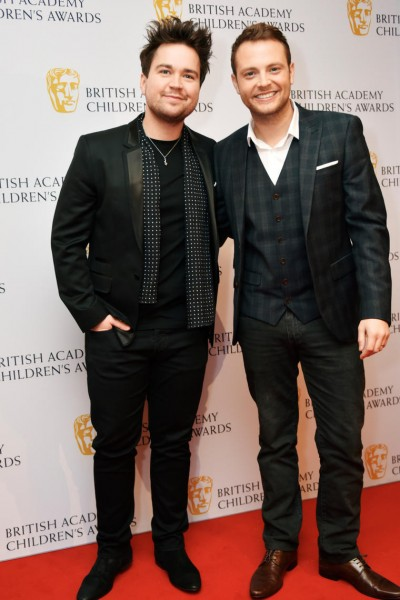 TV presenters Sam Nixon and Mark Rhodes on the red carpet at the British Academy Children's Awards in 2015