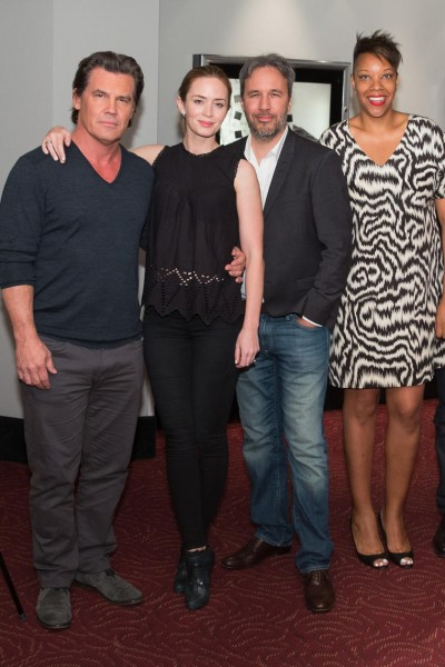 Josh Brolin, Emily Blunt, Director Denis Villeneuve and BAFTA New York CEO Julie La'Bassiere