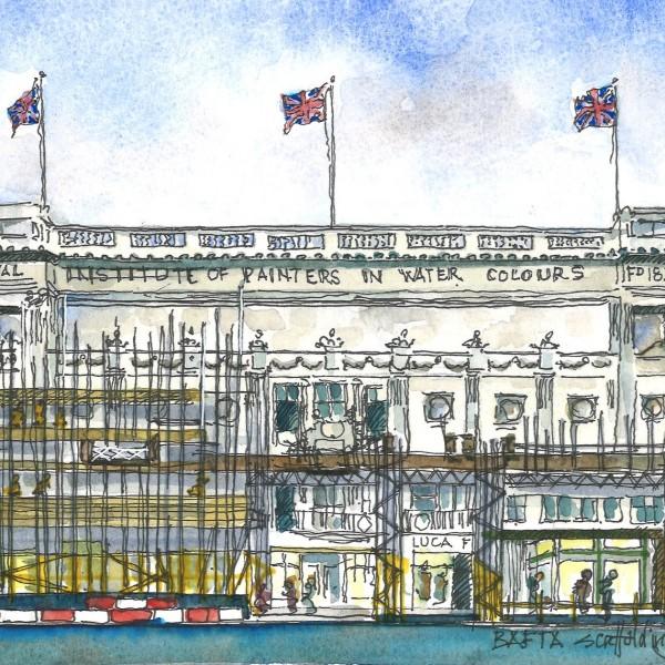 Event: BAFTA Piccadilly Build in WatercolourDate: Sunday 14 July 2019, onwardsVenue: BAFTA, Piccadilly, London-