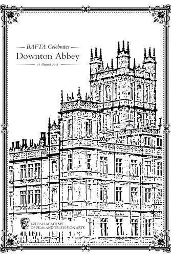 Downton Abbey Brochure - BAFTA 2015
