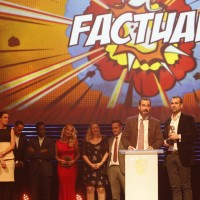 The Operation Ouch! team collect the BAFTA for Factual at the British Academy Children's Awards in 2014