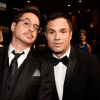 Honorees Robert Downey Jr. (L) and Mark Ruffalo
