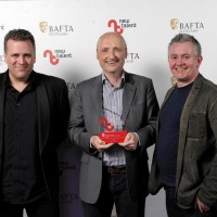 Pictured left to right - Sergio Casci, Robin Macpherson, Robbie Allen who collected the award for Best Writer on behalf of Ben Shamrock for 'Patata Tortilla.
