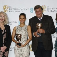 Anne Morrison, Gugu Mbatha Raw, Stephen Fry and Amanda Berry at the nominations press conference for the EE British Academy Film Awards 2016.