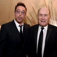 Honoree Robert Downey Jr. (L) and actor Robert Duvall