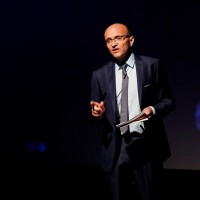 Tim Hincks delivers his lecture at BAFTA 195 Piccadilly