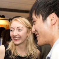 Scholars Emily Ellis and Wan Pin Chu at the reception