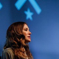 Jade Raymond delivering her lecture