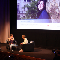 """""""I write in libraries mostly. I like writing where there are people."""" (Picture: BAFTA / S. Butler)"""
