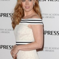 Amy Adams arrives at the BAFTA Nespresso Nominees' Party at Kensington Palace