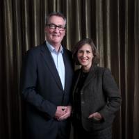 Bennett-Jones and Kirsty Wark. (Picture: BAFTA / J. Simonds)