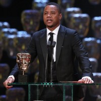 Cuba Gooding Jr takes to the stage to present the award for Supporting Actress