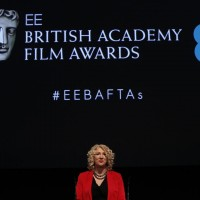 BAFTA Chair Anne Morrison opens proceedings at the EE British Academy Film Awards nominations announcement on 9 January 2015