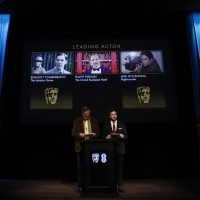 Stephen Fry and Sam Claflin reveal the nominations for the EE British Academy Film Awards in 2015.