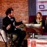 Twitch quiz host Tommy from Two Angry Gamers with ShannaNina and Aoife Wilson