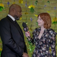 Colin Salmon is interviewed by Alice Levine before the ceremony