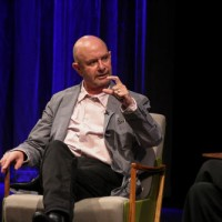 Nick Hornby on stage at his BAFTA and BFI Screenwriters' Lecture held at BAFTA 195 Piccadilly