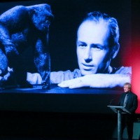 Sir Christopher Frayling on stage (BAFTA/Brian J Ritchie).
