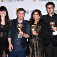 The team behind 'I Can't Go To School Today' accept the Learning: Primary Award