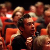 An audience member asks a question. (Picture: BAFTA / J. Simonds)