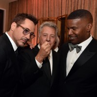 (L-R) Honoree Robert Downey Jr., actors Dustin Hoffman and Jamie Foxx