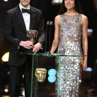 Colin Morgan and Sonoya Mizuno present the BAFTA awards for Editing and Sound at the Royal Opera House in Covent Garden