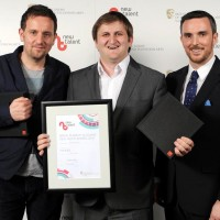 Oggi Tomic & Chris Leslie for Finding Family winner of Best New Work presented by Ian MacKenzie, Media Project Manager, Creative Diversity at Channel 4