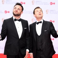 Ant and Dec feel a spot of rain
