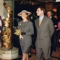 Sarah, Duchess of York with Prince Andrew, Duke of York at BAFTA Los Angeles' Royal Gala in 1988.