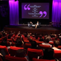 In conversation with screenwriter Peter Morgan. (Photography: Jay Brooks)