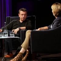 BAFTA winning screentwriting Peter Morgan talks with Television and Radio Presenter Francine Stock. (Photography: Jay Brooks)