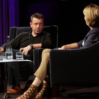 BAFTA winning screentwriting Peter Morgan talks with Television and Radio Presenter Francine Stock. (Photography: Jay Brooks)