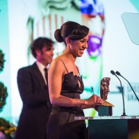 Pearl Mackie presents the award for Special Visual & Graphic Effects