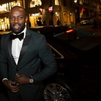 David Gyasi arrives at BAFTA 195