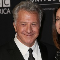 Dustin Hoffman (L) and Lisa Hoffman