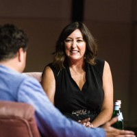 Lynwen Brennan in conversation with Celyn Jones at the Reardon Smith Theatre, Cardiff, 17th July 2018