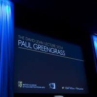 The stage before Paul Greengrass' David Lean Lecture.