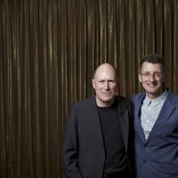 Fellow screenwriters Nicholson and Brock. (Picture: BAFTA / J. Birch)