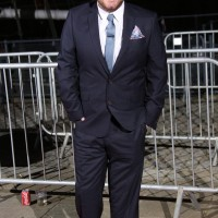 Alex Brooker arrives on the red carpet at Tobacco Dock in London