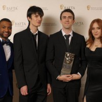 Ronan Quigley & Gareth Robinson (Game) with citation readers JB Gill & Angela Scanlon